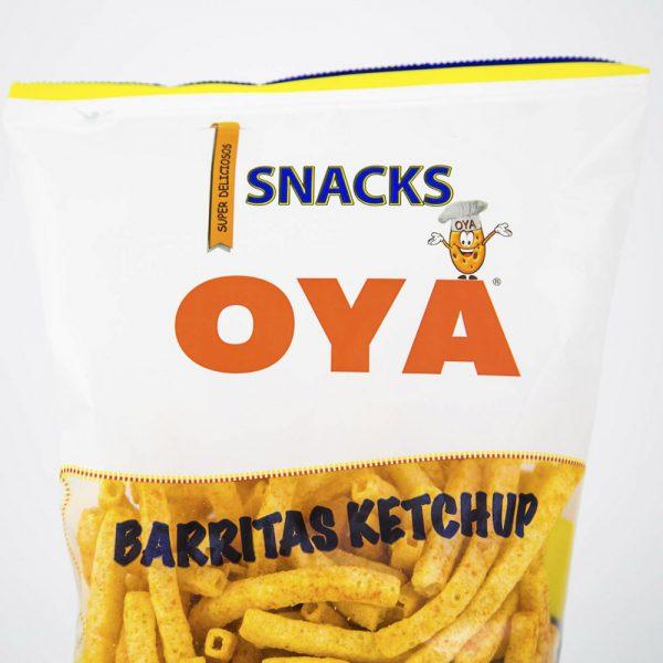 Snacks barritas Ketchup OYA