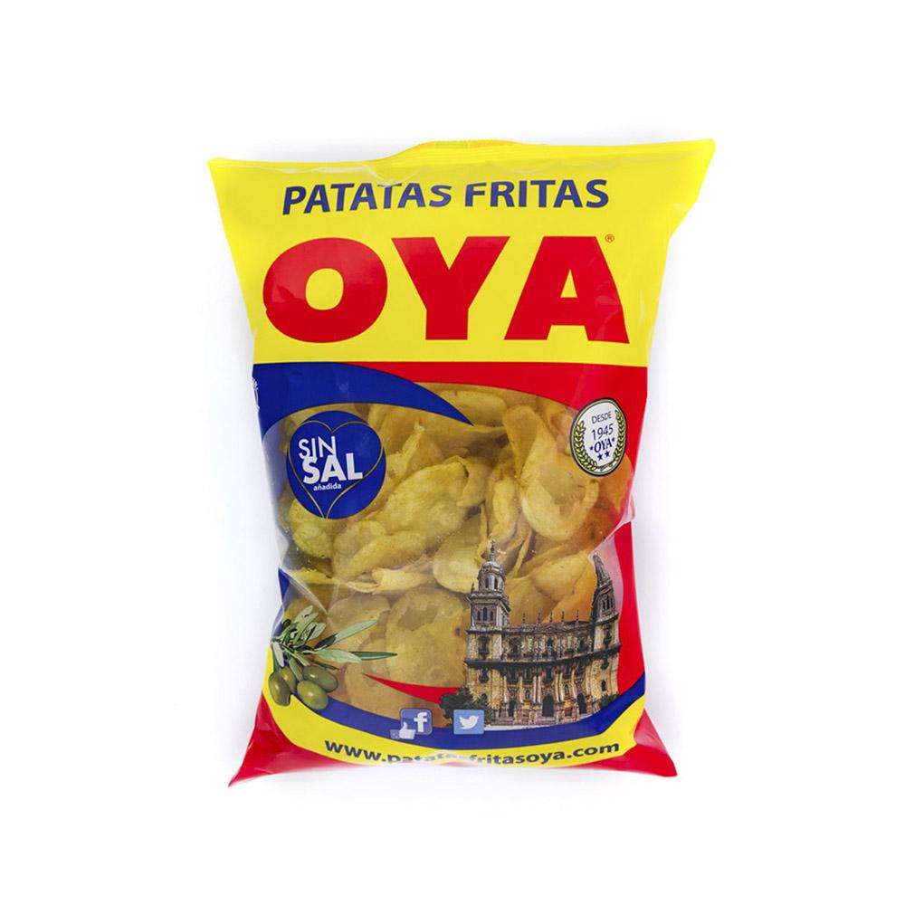 Bolsa de Patatas Fritas OYA con Aceite de Oliva sin Sal 225g