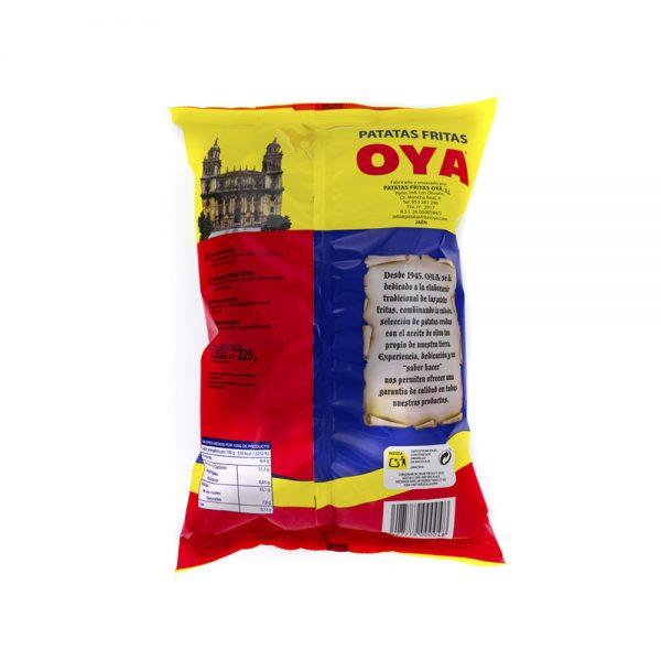 Trasera de Patatas Fritas OYA con Aceite de Oliva sin Sal 225g