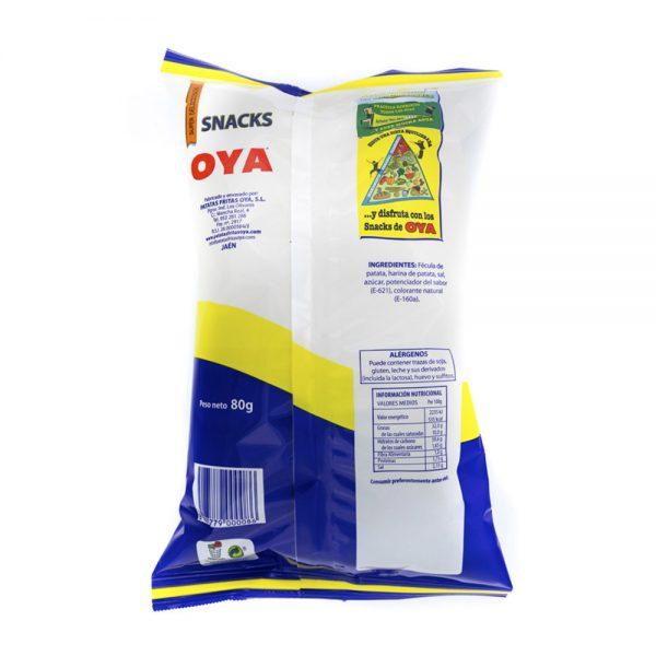 Trasera de Patatas Chips OYA Bolsa de 80g