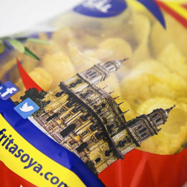 Snack Patatas Fritas OYA con Aceite de Oliva sin Sal 225g